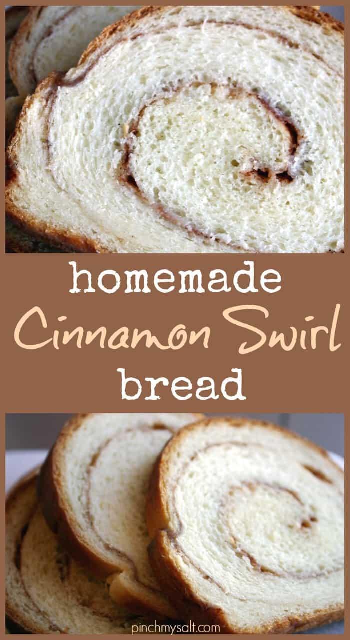 Homemade Cinnamon Swirl Bread recipe | pinchmysalt.com