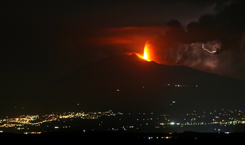 Mount Etna Welcomes Me Home