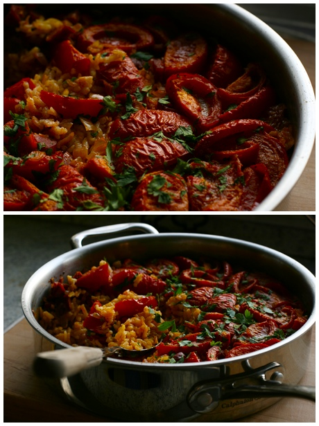 Paella with Tomato and Chorizo