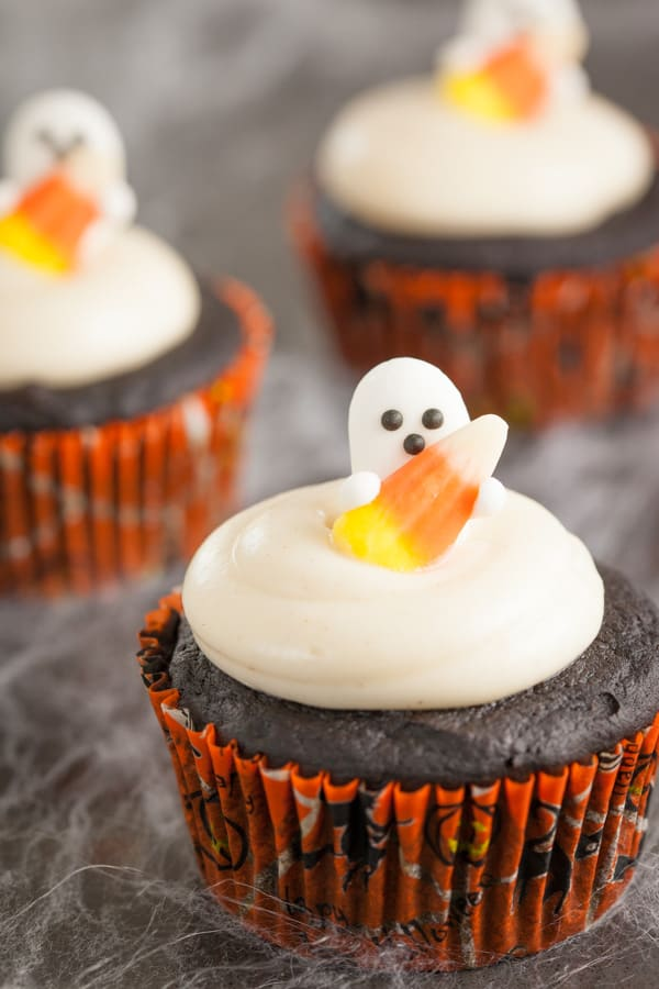 ... double chocolate pumpkin cupcakes contain a whole can of pumpkin these
