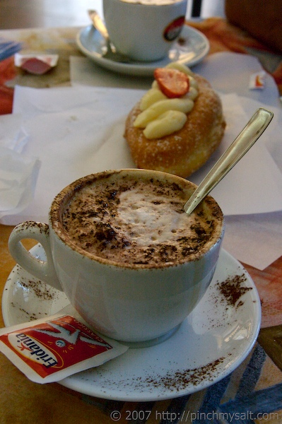 Cappuccino and Pastry