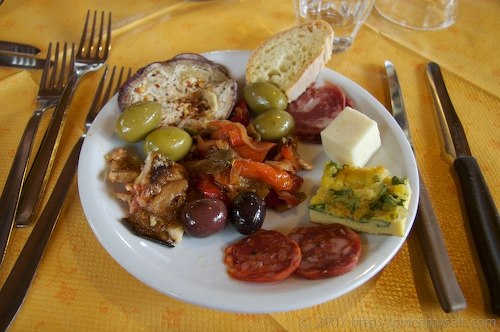 Antipasti in St. Alfio