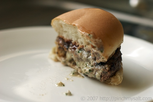 Ooozing Blue Cheese Burger
