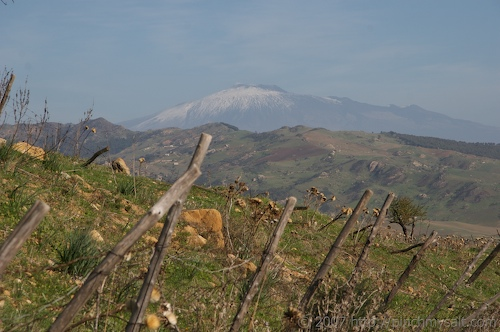 Countryside with Etna