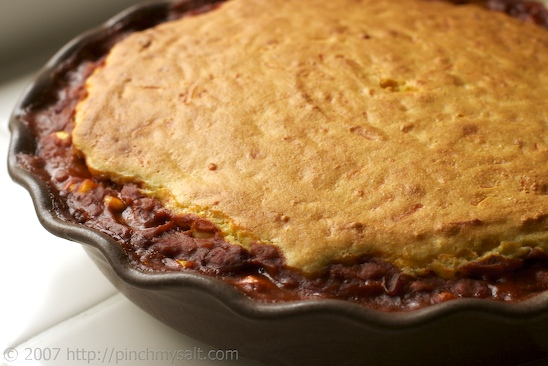 Chili Cornbread Pie
