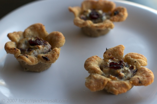 Cranberry Goat Cheese Tarts