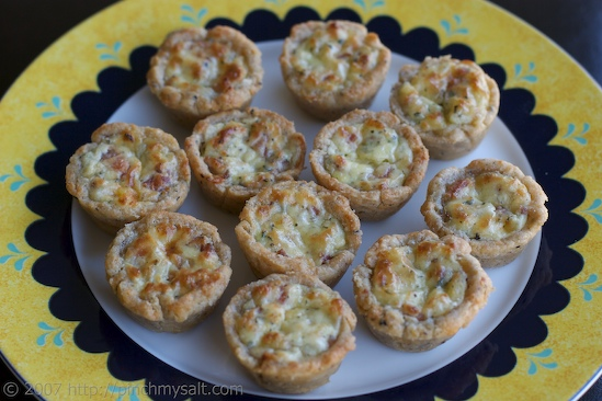 Three Cheese Tartlets with Bacon and Thyme