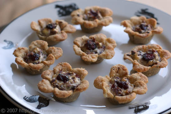 Cranberry Goat Cheese Tartlets