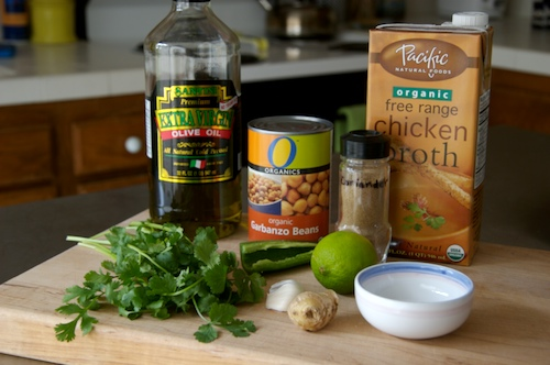 The Accidental Soup Recipe: Chick Peas, Ginger, and Coriander, Oh my!