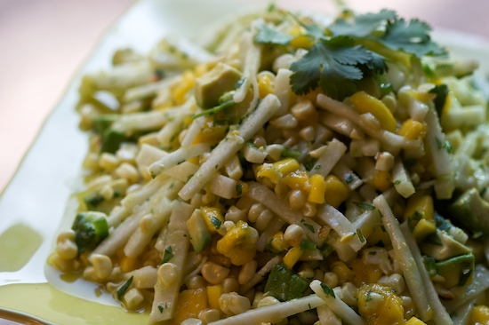 Grilled Corn, Mango and Jicama Salad with Honey Vinaigrette