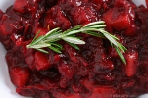Cranberry Sauce with Rosemary and Persimmons