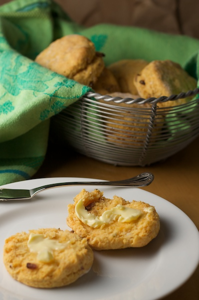 Sweet Potato Biscuits with Bacon and Thyme Recipe