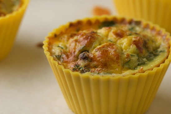 Bake the muffins in a 375 degree oven for 20-25 minutes or until the eggs are puffed, golden, and set in the middle.