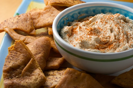 Smoked Tuna Dip with Pita Chips | pinchmysalt.com