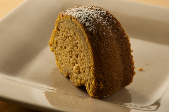 Slice of Pumpkin Spice Cake on a plate | pinchmysalt.com