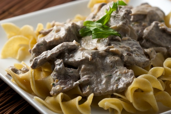 Beef Stroganoff with Whole Wheat Egg Noodles