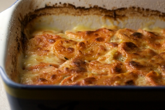 Butternut Squash and Sweet Potato Gratin Recipe - Pinch My ...