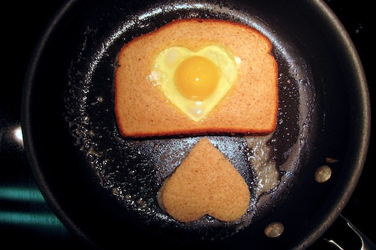 Egg in a Heart in a Pan