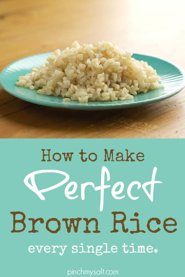 Perfect brown rice recipe how to make perfect brown rice pinchmysalt ccuart Images