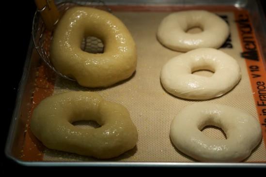 Return Boiled Bagels to Sheet Pan
