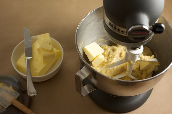 Adding Butter to Brioche Dough