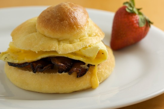 Brioche, Bacon and Egg Breakfast Sandwich