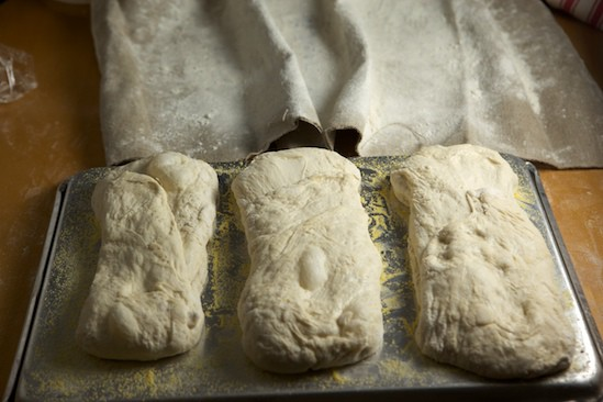 Stretched Ciabatta Loaves