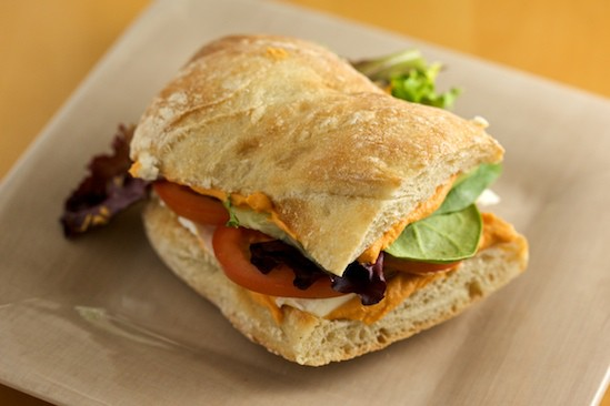 Vegetable Sandwich on Ciabatta