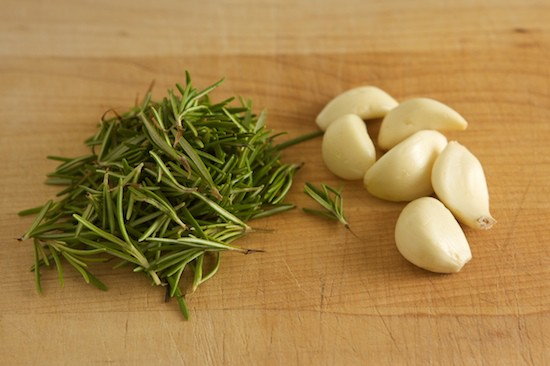 Fresh Rosemary and Garlic for Chicken Marinade