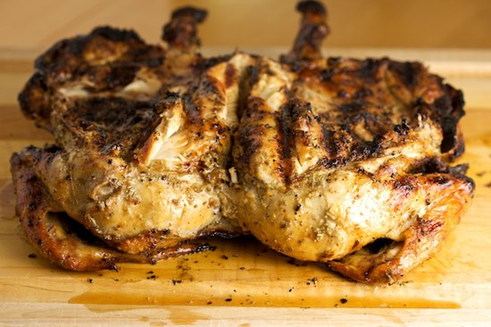 Grilled Chicken Under a Brick