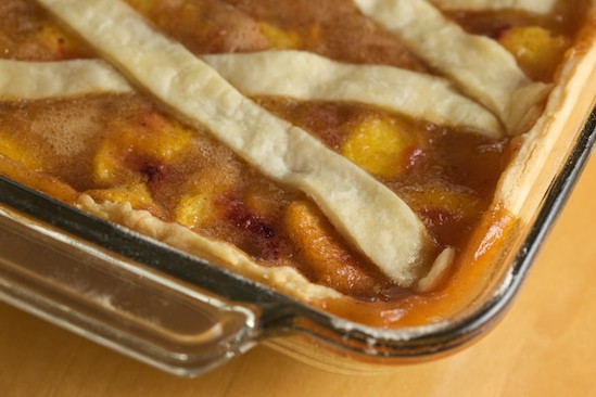 Peach Cobbler View from the Top