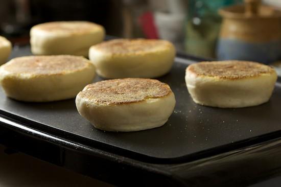 English Muffins Flipped