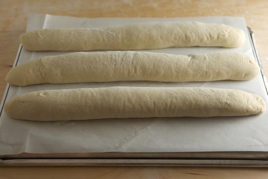 Baguettes Ready for Slashing