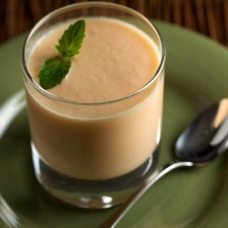 Chilled Ginger Cantaloupe Soup