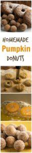 How to make homemade pumpkin spice donuts and donut holes. A perfect fall dessert! pinchmysalt.com