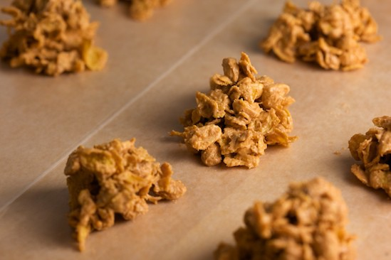 Butterscotch Corn Flakes on paper