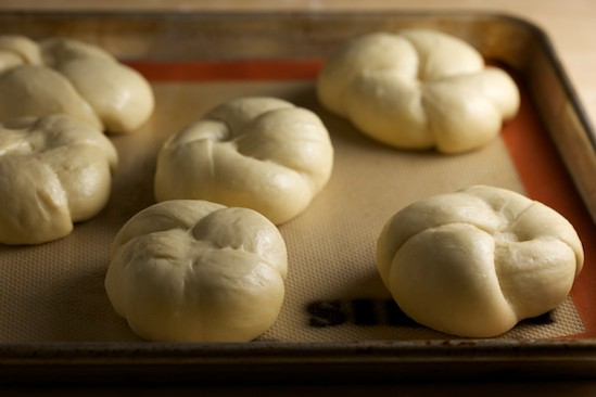 Kaiser Rolls after Proofing