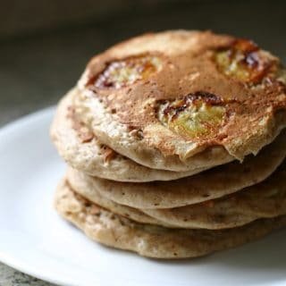Wordless Wednesday: Date Nut Pancakes with Bananas