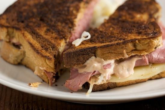 Reuben Sandwich on Marbled Rye