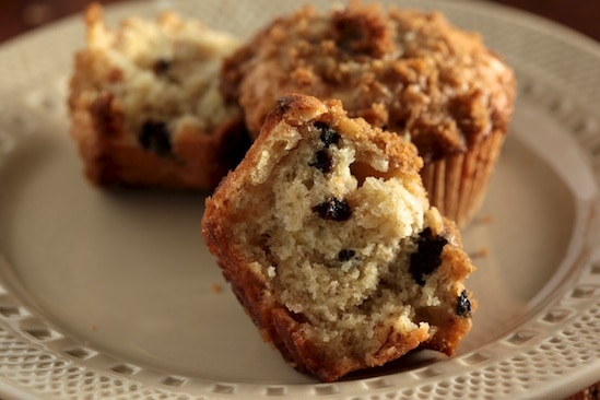 Cherry Banana Muffin Crumb