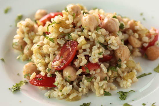 Brown Rice Salad with Cumin Lime Vinaigrette