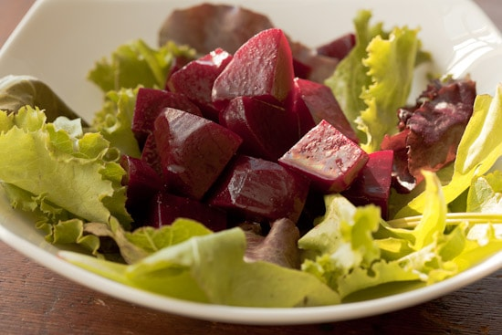 Pickled Beets on Salad