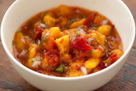 Peach and Peppadew Salsa | pinchmysalt.com