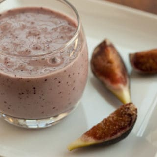 Fresh Fig and Banana Milkshake
