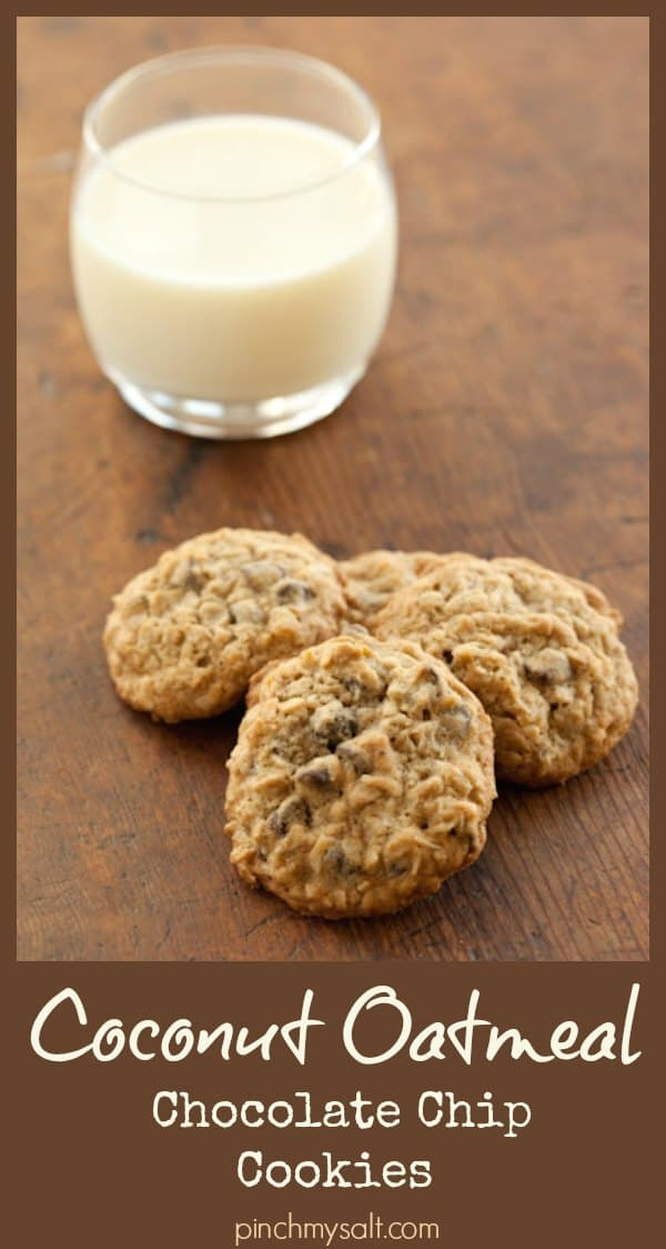 Oatmeal Chocolate Chip Cookies with Coconut Recipe
