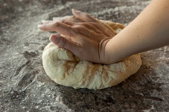 Kneading Dough for Pane Siciliano