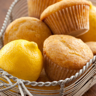 Honey Lemon Olive Oil Muffins with Lemon Glaze