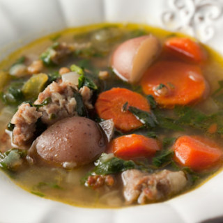 Hearty Spinach and Sausage Soup