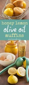 Honey Lemon Olive Oil Muffins with Lemon Glaze | pinchmysalt.com
