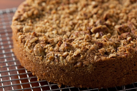 Sour Cream Pear Cake with Pecan Streusel | pinchmysalt.com
